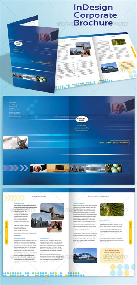 brochure templates for photoshop cs3 corporate a4 brochure indesign template graphicriver
