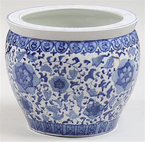 blue and white porcelain planters large blue and white porcelain planter