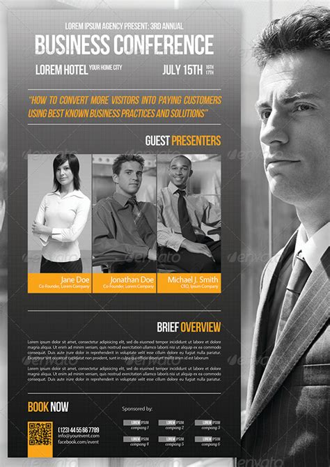 conference flyer template business conference flyer template 07 by petumdesign