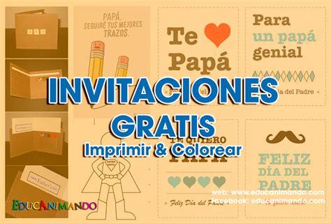 tarjeta de invitacion para el dia de los jardines moldes de tarjetas de invitaci 211 n para el d 237 a del padre