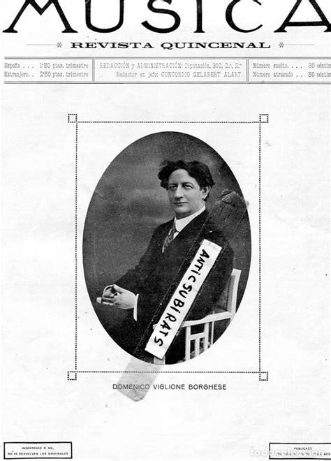 revsita año 1915 musica borghese banda municipa - Comprar