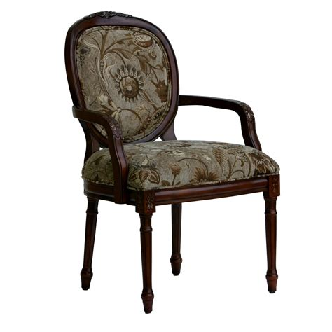 Arm Accent Chair Furniture Brown Wooden Accent Chairs With Arms Brown Floral Pattern Back And Seat