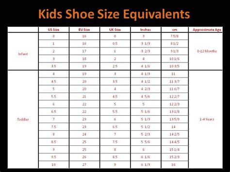 toddler to kid shoe size chart children shoe size chart search kid stuff