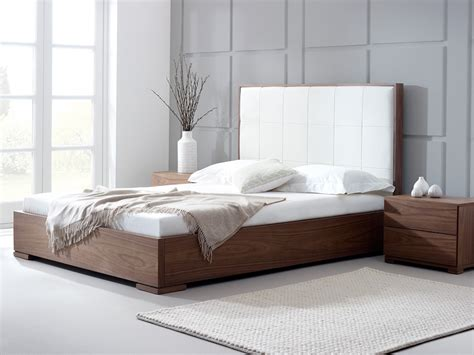 contemporary headboards uk bella natural walnut bed living it up