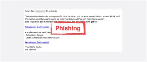 si鑒e t phishing e mail quot ihre mailbox wurde gesperrt