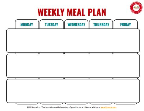weekly lunch menu template 3 meal day care weekly menu template mon fri day care