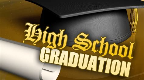 high school graduation cap and diploma