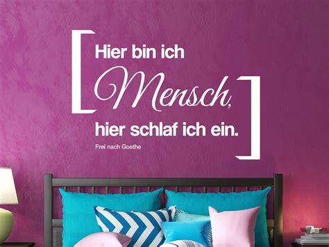 Wandtattoo Kinderzimmer Schlafen by Wandtattoo Spruch Einschlafen Mit Goethe Wandtattoo Net