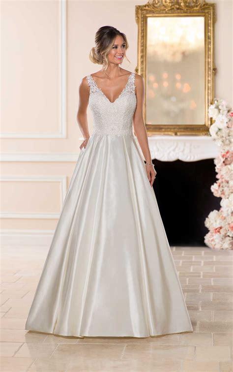 vintage satin ballgown wedding dress stella york wedding