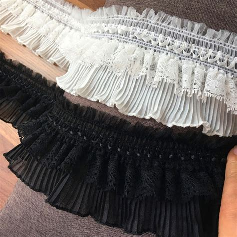 aliexpress buy 5 yard lot black white lace fabric