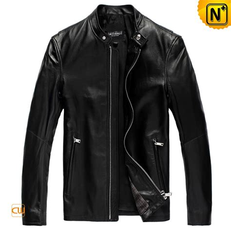 Jacket Black by Cool Mens Slim Black Leather Jacket Cw809012 Cwmalls