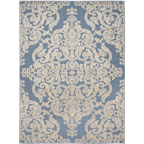 Lark Manor Lievin Blue Indoor Outdoor Area Rug Reviews Outdoor Rugs Blue