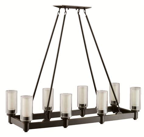 Rectangular Dining Chandelier Kichler 2943oz Circolo Rectangular Chandelier