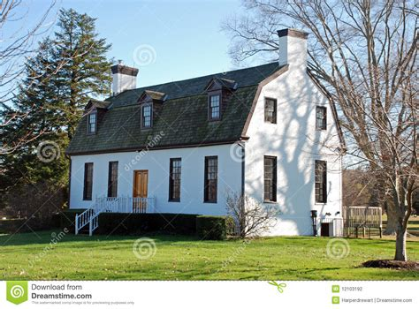Gambrel Roof House Plans by White Building Gambrel Roof Stock Photography Image