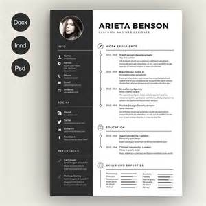 Original Resume Templates by Clean Cv Resume Resume Templates Creative Market