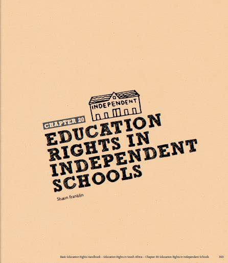 home centre for rights education education rights in independent schools authored by shaun franklin equal education centre