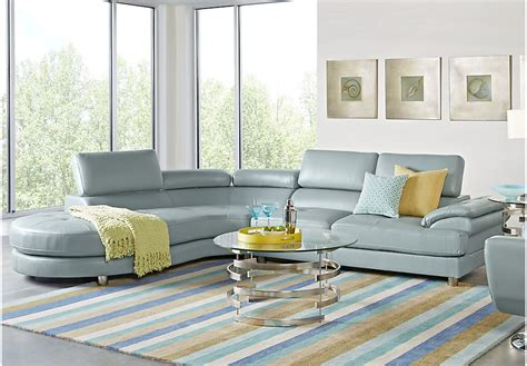 Rooms To Go Living Room Set With Tv Sofia Vergara Cassinella Hydra 5 Pc Sectional Living Room Living Room Sets Blue