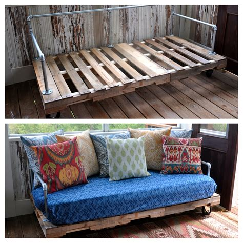 make a twin bed into a couch my first pinterest project pallet couch fishsmith3 s blog