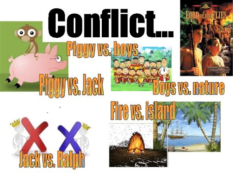 psychological themes in lord of the flies lord of the flies conflict pupil s work