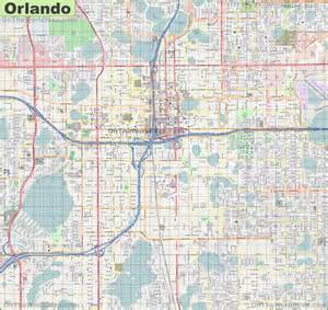 large detailed map of orlando