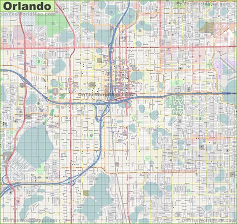 city map of orlando florida large detailed map of orlando