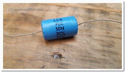 lcr capacitor condensador capacitor 50n 2kvv lcr fec vintage camion vehiculos militares ropa uniformes