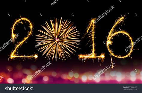new year 2016 in writing new year 2016 writing sparkles firework with black
