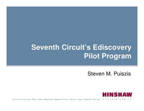 7th Circuit Search Seventh Circuit Ediscovery Pilot Program