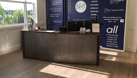 front reception desks restaurant office tufted metal front reception desk the