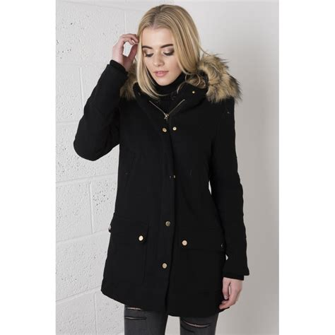 Black Coat black coat fur jacketin