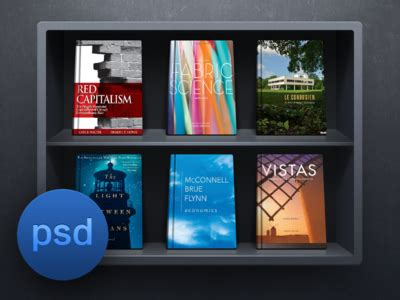 ios bookshelf ui psd free psd vector icons