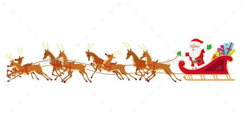 where to buy a sled and reindeer for the roof of your house santa sleigh and reindeer by osk222 graphicriver
