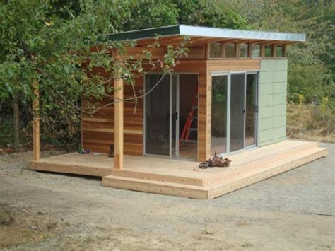 exteriorflat roof  retractable door  modern shed