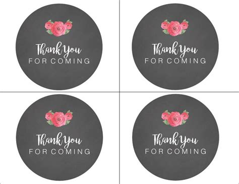 thank you sticker template personalized wedding favor circle label stickers for