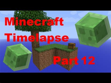 slime farm tutorial skyblock slime farm minecraft timelapse skyblock part 12