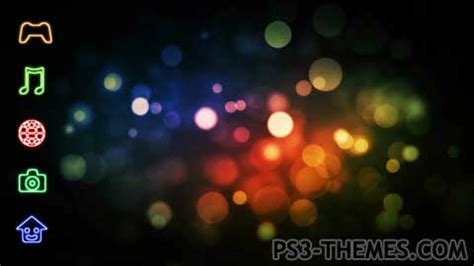 ps3 themes moving background ps3 themes 187 colored bubbles animated