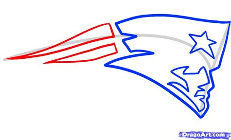draw logo how to draw the patriots logo new patriots step