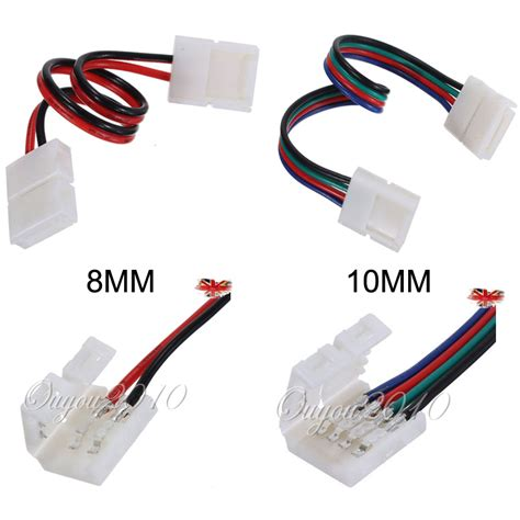 8mm 2pin 10mm 4pin Led Strip Light Connector Adapter Cable Led Light Connector