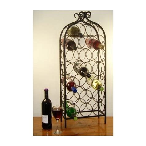 Black Wrought Iron Wine Rack by Buy Cranville Wine Racks 20 Bottle Wrought Iron Style Wine