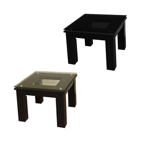 Floating End Table by Plateau Sl Series Black Wood Floating Glass End Table Clear Or Black Glass Sl Te