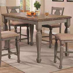 Kitchen Tables For Two Coaster 106308 Riverbend Counter Height Dining Table Two Tone Finish