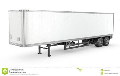 trailer white blank white parked semi trailer stock images image 31498014