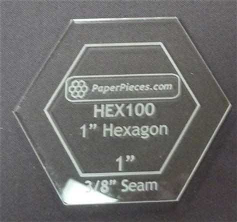 1 5 inch hexagon template 1 inch hexagon acrylic template