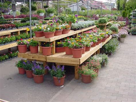 garden centre display benches wood display products rectangular benches b3 classic