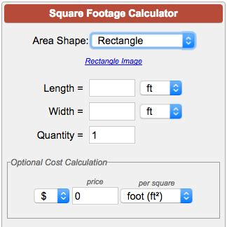 Square Feet Calc by Square Footage Calculator