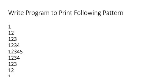 pattern program using java simple java how to print pyramid pattern of numbers in java