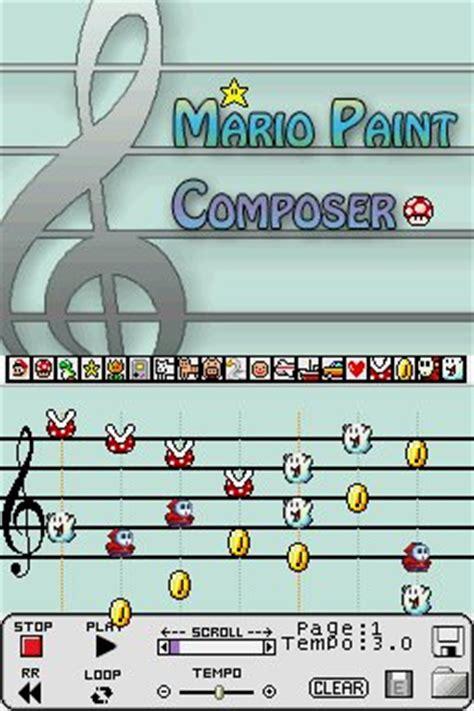 nintendo ds › mario paint composer ds › pdroms homebrew