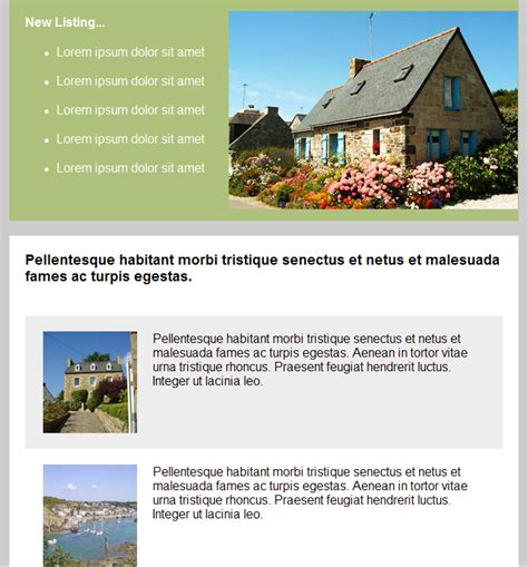 Email Templates For Real Estate Newsletters And Marketing Real Estate Email Newsletter Templates