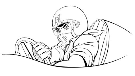 speed racer coloring page az coloring pages
