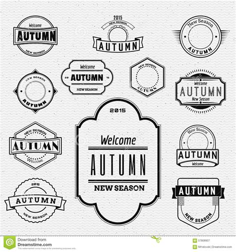 labelling logo use labelling logo use pefc autumn badges logos and labels for any use stock vector